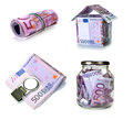 Currency european union set image Royalty Free Stock Photography