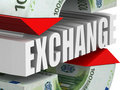 Currency exchange. Euro Stock Photography