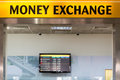 Currency exchange money station Royalty Free Stock Image