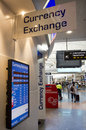 Currency exchange service bureau de change aucklnad dec in auckland airport on dec in countries where is lightly regulated they Royalty Free Stock Images