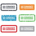 Currency exchange sign icon currency converter symbol money label retro stamps and badges Royalty Free Stock Images