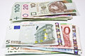 Currency polish zloty and the euro Stock Photography