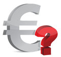 Currency question mark Royalty Free Stock Photos