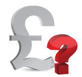 Currency question mark Stock Image