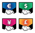 Currency signs color illustration on white background Royalty Free Stock Photography