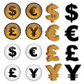 Currency symbols Royalty Free Stock Image