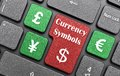 Currency symbols Stock Images