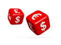 Currency Symbols on Dices Royalty Free Stock Photo
