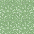 Currency symbols seamless pattern of over green background Stock Images