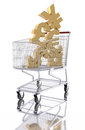Currency Symbols in a Shopping Cart Royalty Free Stock Photo