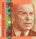 Current Canadian $50 Banknote Royalty Free Stock Photography