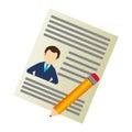Curriculum vitae document icon