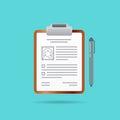 Curriculum Vitae Recruitment Candidate Job Position Vector Illus