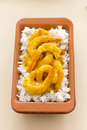Curried shrimps delicious spicy ready to serve Royalty Free Stock Image