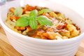 Curry chicken casserole with cauliflower and potato delicious green paprika eggs Stock Photography