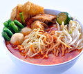 Curry Chicken Noodles malaysia food Stock Photo