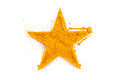 Curry (madras curry) isolated in star shape Royalty Free Stock Photo