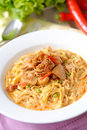 Curry noodle - khao soi Royalty Free Stock Photo