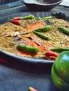 Curry paprikas und linsen Stockfotos