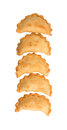 Curry puff iii popular traditional malaysian snack over white background Stock Photography