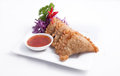 Curry puff, Thai entree, Appetizer Stock Photos
