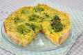 Curry quiche home made with broccoli and carrots Stock Photography