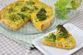 Curry quiche home made with broccoli and carrots Royalty Free Stock Image