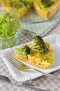 Curry quiche home made with broccoli and carrots Royalty Free Stock Photography