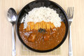 Curry with rice japanese style close up Royalty Free Stock Image