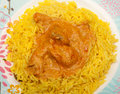 Curry tikka masala pilau korma chicken or with rice indian take away Royalty Free Stock Images