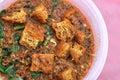 Curry vegetariano tradicional del Malay Imagenes de archivo