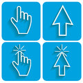 Cursor set blue of cursors for every taste vector illustration Stock Photos