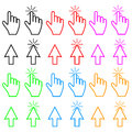 Cursor set colorful of cursors for every taste vector illustration Stock Photo