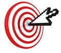 Cursor on target Stock Photo