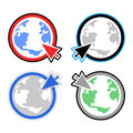 Cursor world button Stock Images