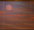 Curtain blind in the night. Stock Photos