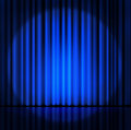 curtain or drapes blue background. Royalty Free Stock Photo