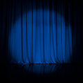Curtain or drapes blue theater background Royalty Free Stock Photo