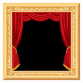 Curtain frame Royalty Free Stock Photos