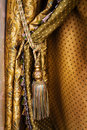 Curtain with an ornament Royalty Free Stock Photo