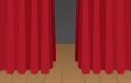 Curtain Stage Stock Image