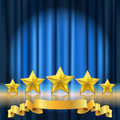 Curtain theater background Royalty Free Stock Photo