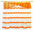 Curtains orange Royalty Free Stock Photos