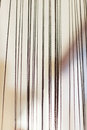 Curtains tassel in doorway decor closeup Royalty Free Stock Photos