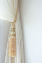 Curtains tassel for interior luxury house Royalty Free Stock Photos