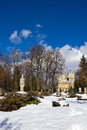 Curtea de Arges monastery in winter Royalty Free Stock Photo