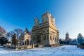 Curtea de Arges monastery in winter, Romania Royalty Free Stock Photo