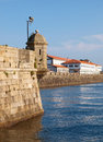 Curuxeiras pier in ferrol spain galicia a landmark of this town Royalty Free Stock Photos