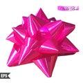 Curva cor de rosa bonita realística isolada no branco Fotografia de Stock Royalty Free