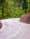 Curve at a country road Royalty Free Stock Images